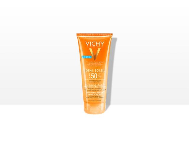 SPF 50 Ultra-melting milk-gel for wet or dry skin
